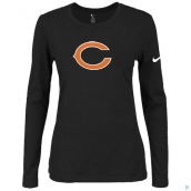 Nike Chicago Bears Women's Of The City Long Sleeve TriBlend TShirt Black
