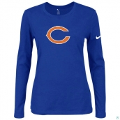 Nike Chicago Bears Women's Of The City Long Sleeve TriBlend TShirt Blue