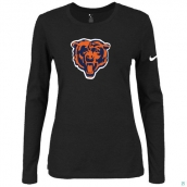 Nike Chicago Bears Women's Of The City Long Sleeve TriBlend TShirt Black 2