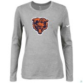 Nike Chicago Bears Women's Of The City Long Sleeve TriBlend TShirt L-Grey 2