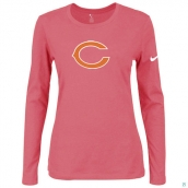 Nike Chicago Bears Women's Of The City Long Sleeve TriBlend TShirt Pink