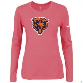 Nike Chicago Bears Women's Of The City Long Sleeve TriBlend TShirt Pink 2