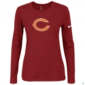 Nike Chicago Bears Women's Of The City Long Sleeve TriBlend TShirt Red