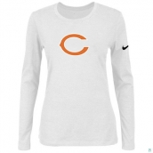 Nike Chicago Bears Women's Of The City Long Sleeve TriBlend TShirt White