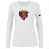 Nike Chicago Bears Women's Of The City Long Sleeve TriBlend TShirt White 2