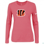 Nike Cincinnati Bengals Women's Of The City Long Sleeve TriBlend TShirt Pink