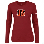 Nike Cincinnati Bengals Women's Of The City Long Sleeve TriBlend TShirt Red
