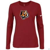 Nike Cincinnati Bengals Women's Of The City Long Sleeve TriBlend TShirt Red 2