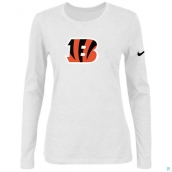 Nike Cincinnati Bengals Women's Of The City Long Sleeve TriBlend TShirt White