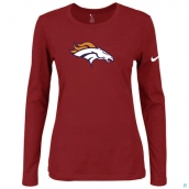 Nike Denver Broncos Women's Of The City Long Sleeve TriBlend TShirt Red