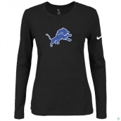 Nike Detroit Lions Women's Of The City Long Sleeve TriBlend TShirt Black