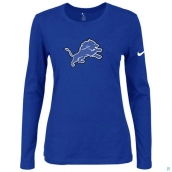Nike Detroit Lions Women's Of The City Long Sleeve TriBlend TShirt Blue
