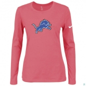 Nike Detroit Lions Women's Of The City Long Sleeve TriBlend TShirt Pink