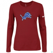 Nike Detroit Lions Women's Of The City Long Sleeve TriBlend TShirt Red