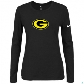 Nike Green Bay Packers Women's Of The City Long Sleeve TriBlend TShirt Black 2