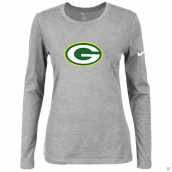 Nike Green Bay Packers Women's Of The City Long Sleeve TriBlend TShirt L-Grey