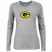 Nike Green Bay Packers Women's Of The City Long Sleeve TriBlend TShirt L-Grey 2