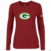 Nike Green Bay Packers Women's Of The City Long Sleeve TriBlend TShirt Red