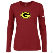Nike Green Bay Packers Women's Of The City Long Sleeve TriBlend TShirt Red 2