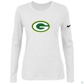 Nike Green Bay Packers Women's Of The City Long Sleeve TriBlend TShirt White