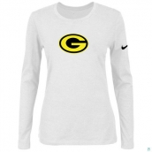 Nike Green Bay Packers Women's Of The City Long Sleeve TriBlend TShirt White 2