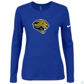Nike Jacksonville Jaguars Women's Of The City Long Sleeve TriBlend TShirt Blue