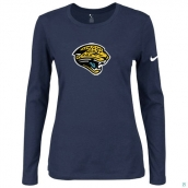 Nike Jacksonville Jaguars Women's Of The City Long Sleeve TriBlend TShirt D-Blue
