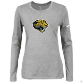 Nike Jacksonville Jaguars Women's Of The City Long Sleeve TriBlend TShirt L-Grey