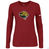 Nike Jacksonville Jaguars Women's Of The City Long Sleeve TriBlend TShirt Red