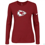 Nike Kansas City Chiefs Women's Of The City Long Sleeve TriBlend TShirt Red