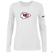 Nike Kansas City Chiefs Women's Of The City Long Sleeve TriBlend TShirt White