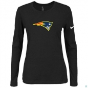 Nike New England Patriots Women's Of The City Long Sleeve TriBlend TShirt Black 2