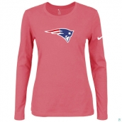 Nike New England Patriots Women's Of The City Long Sleeve TriBlend TShirt Pink