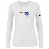 Nike New England Patriots Women's Of The City Long Sleeve TriBlend TShirt White