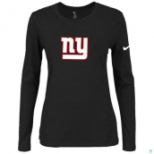 Nike New York Giants Women's Of The City Long Sleeve TriBlend TShirt Black