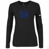 Nike New York Giants Women's Of The City Long Sleeve TriBlend TShirt Black 2