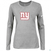 Nike New York Giants Women's Of The City Long Sleeve TriBlend TShirt L-Grey