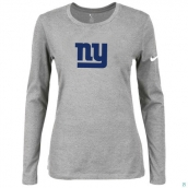 Nike New York Giants Women's Of The City Long Sleeve TriBlend TShirt L-Grey 2