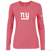 Nike New York Giants Women's Of The City Long Sleeve TriBlend TShirt Pink