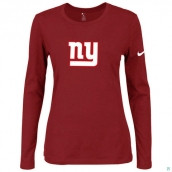 Nike New York Giants Women's Of The City Long Sleeve TriBlend TShirt Red