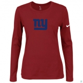Nike New York Giants Women's Of The City Long Sleeve TriBlend TShirt Red 2