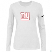 Nike New York Giants Women's Of The City Long Sleeve TriBlend TShirt White
