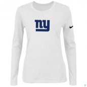Nike New York Giants Women's Of The City Long Sleeve TriBlend TShirt White 2