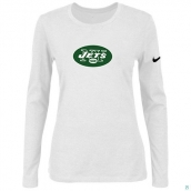 Nike New York Jets Women's Of The City Long Sleeve TriBlend TShirt White