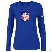 Nike NFL Logo Women's Of The City Long Sleeve TriBlend TShirt Blue