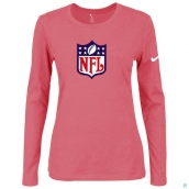 Nike NFL Logo Women's Of The City Long Sleeve TriBlend TShirt Pink