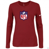 Nike NFL Logo Women's Of The City Long Sleeve TriBlend TShirt Red