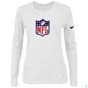 Nike NFL Logo Women's Of The City Long Sleeve TriBlend TShirt White