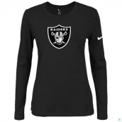 Nike Oakland Raiders Women's Of The City Long Sleeve TriBlend TShirt Black