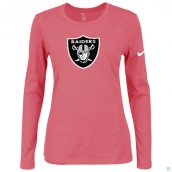 Nike Oakland Raiders Women's Of The City Long Sleeve TriBlend TShirt Pink